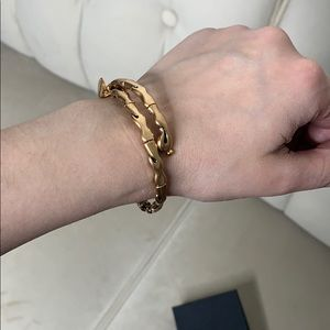 Alex and Ani vintage 66 water gold wrap bracelet